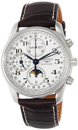 Longines Reloj Analógico para Hombre de Automático con Correa en Piel de cocodrilo L2.673.4.78.3: Amazon.es: Relojes