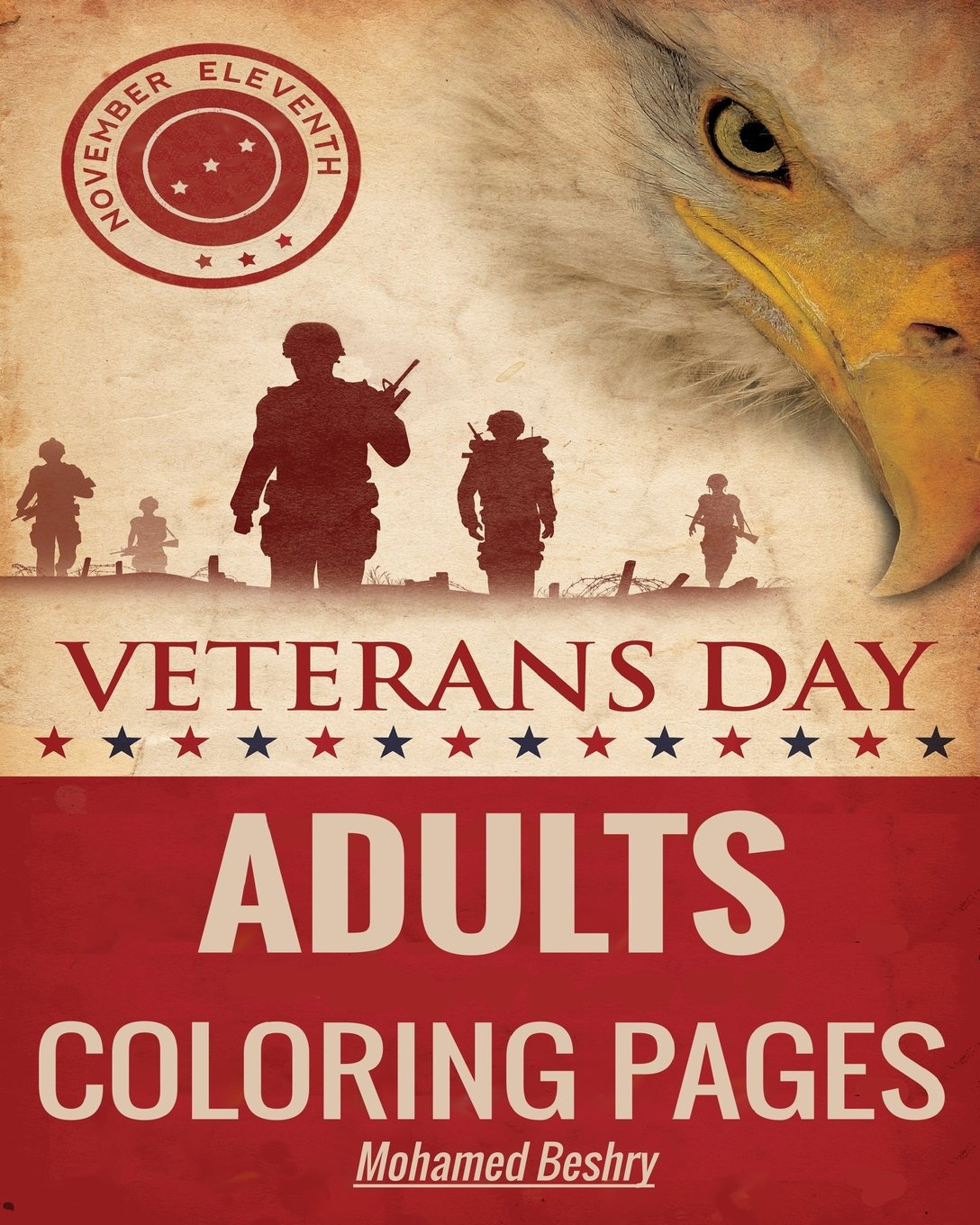 Amazon Com Veterans Day Adults Coloring Pages 9781540419231