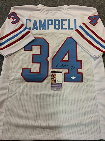 EARL CAMPBELL AUTOGRAPHED SIGNED INSC. HOUSTON OILERS JERSEY JSA ...