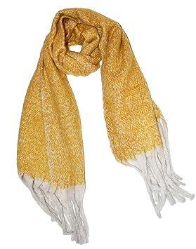 5c83d95133e KGM Accessories Magnifique écharpe épaisse et Douce brossée Jaune Moutarde  Ocre Fleck – Écharpe d
