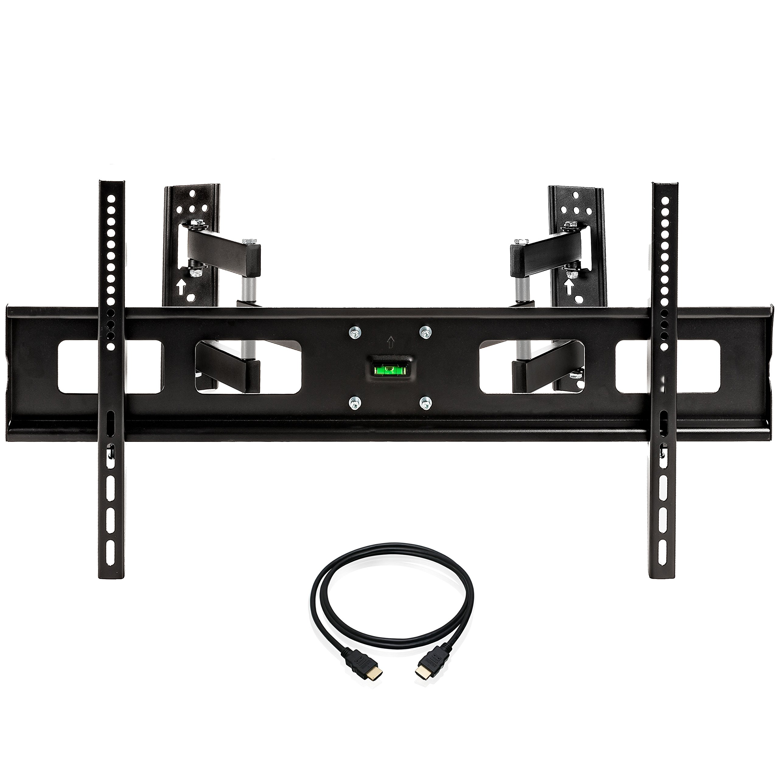 InstallerParts 37''-65'' TV Corner Mount – Swivel/Tilt – 20'' Dual Extension Arm – Heavy Duty LCD LED TV Monitor Flat Panel Screen, HDMI Cable