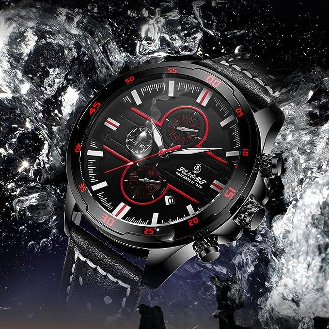 Rcool Relojes suizos relojes de lujo Relojes de pulsera Relojes para mujer Relojes para hombre Relojes deportivos,30M Reloj multifuncional impermeable para ...