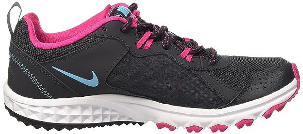 the best attitude 18a55 b6f2d Amazon.com   Nike Women s Wild Trail Anthrct Plrzd Bl Vvd Pnk White Running  Shoe 5.5 Women US   Trail Running