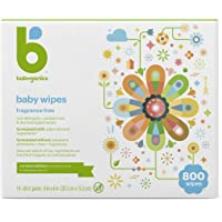 800-Count BabyGanics Fragrance-Free Face Hand and Baby Wipes (10 Packs of 80 Wipes)