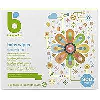 Babyganics Fragrance Free Flushable Baby Wipes, 100 Count (Pack of 8)