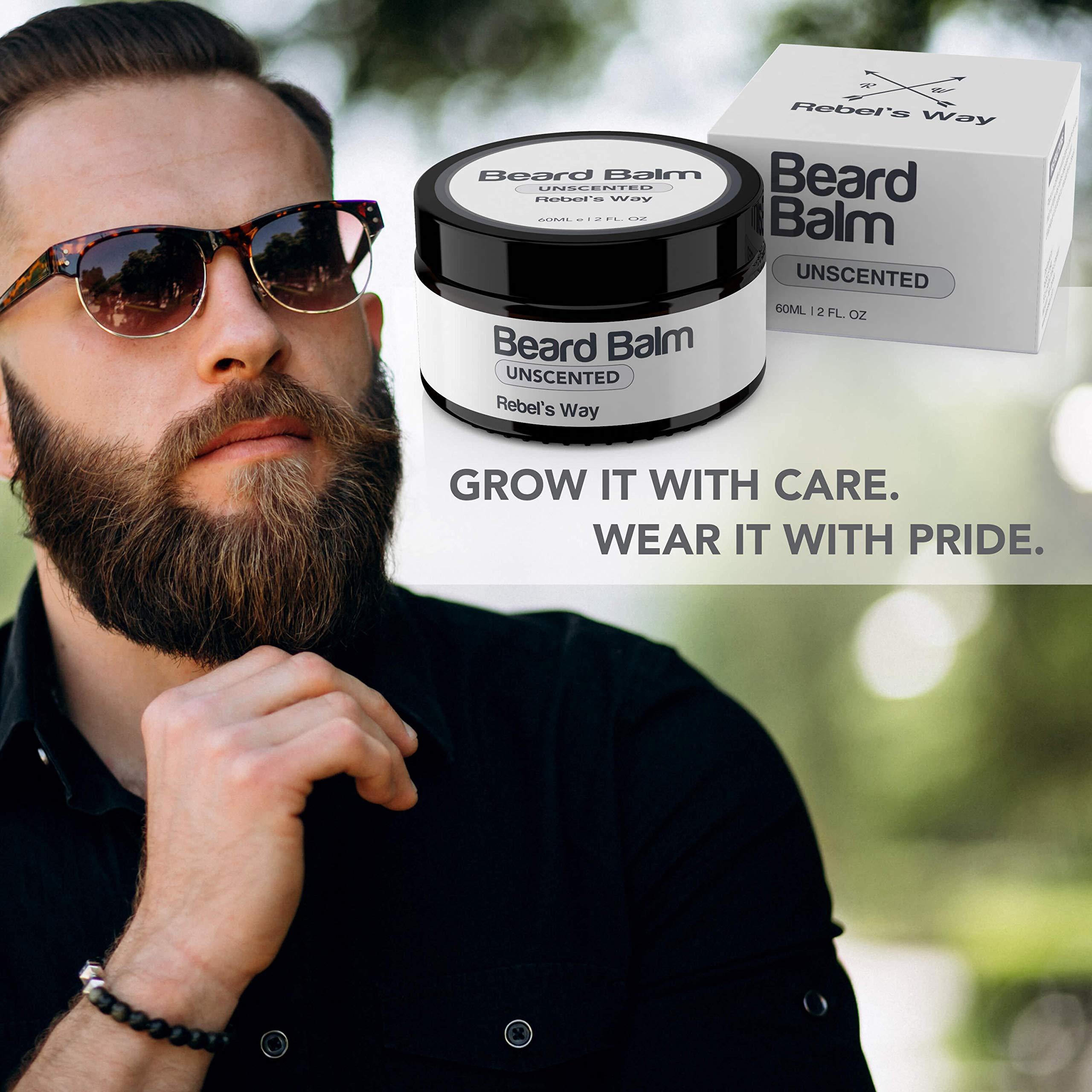 Unscented Beard Balm Made in Canada (2 Oz - 60ml)
