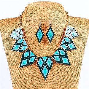 Drops of oil Explosion models exaggeration fashion retro false collar necklace
