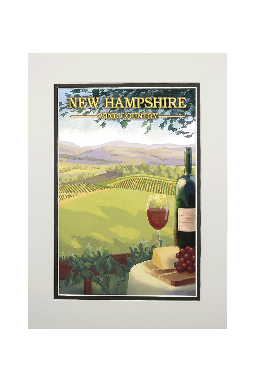 【在庫一掃】 New Hampshire Art – ワインカントリーシーン 11 Hampshire x B06XZXGDFX 14 Matted Art Print LANT-19602-11x14M B06XZXGDFX 11 x 14 Matted Art Print, ウルフムーン:01bc5b86 --- mcrisartesanato.com.br