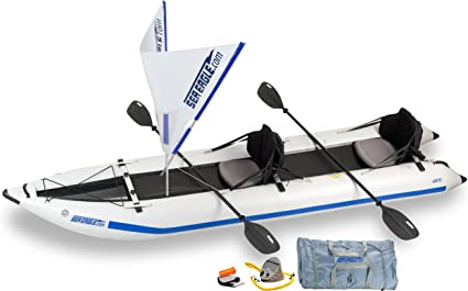 Amazon.com: Mar Eagle 435ps paddleski inflable/catamarán ...