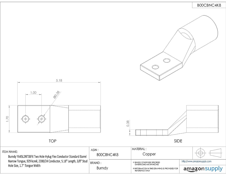 D/&D PowerDrive BX73 V Belt  5//8 x 76in  Vbelt