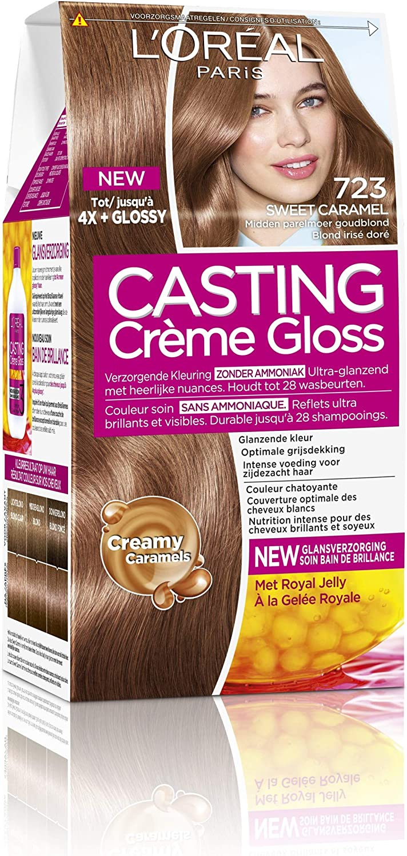 L Oreal Paris Casting Crème Gloss 7,23 dulce Leche – Pelo süßem caramelo Mediados De Perlas Golden Rubio – Pelo