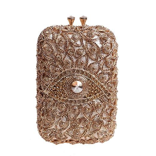 Bonjanvye Novelty Eye Shape Glitter Studded Purses with Crystal Rhinestone Handbags For Girls Blue: Amazon.es: Equipaje