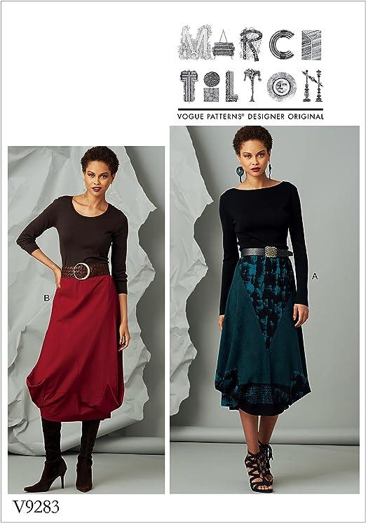 Vogue Patrones de Costura para Falda, Tejido, Multicolor, 15 x 0,5 ...