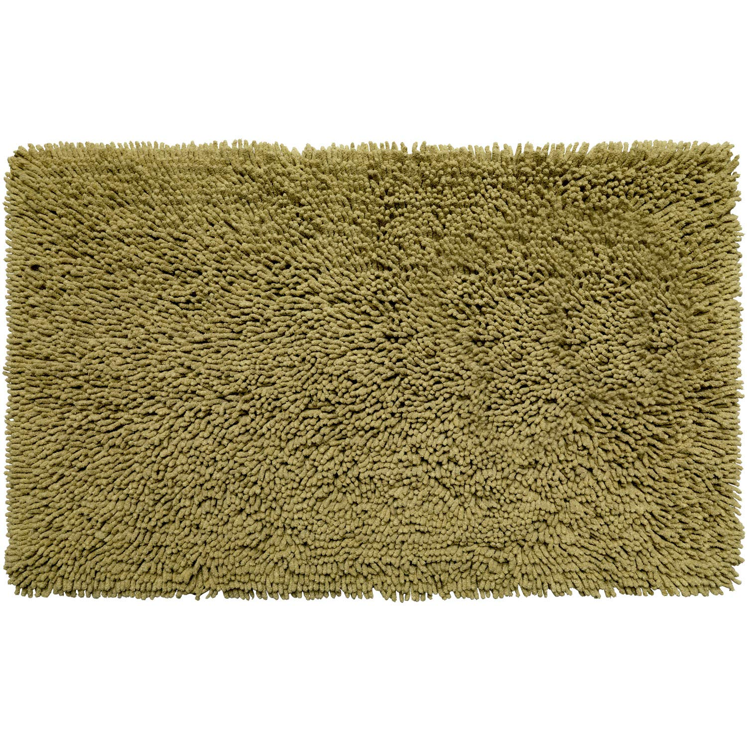 Sweet Home Collection Shaggy, Decorative, Easy Wash 100% Cotton Absorbent, Soft, Comfortable, Quick Dry Rug for Bathroom Floor 21' x 34' Sage