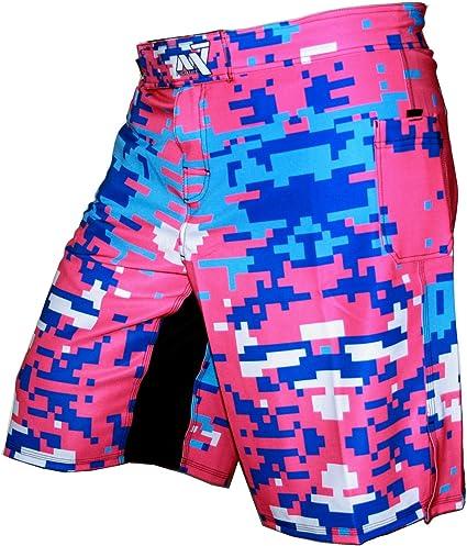Kick boxing Motif camouflage pixellis/é Short de sport MMA