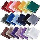 20 pcs Assorted Solid color Pocket squares for Men