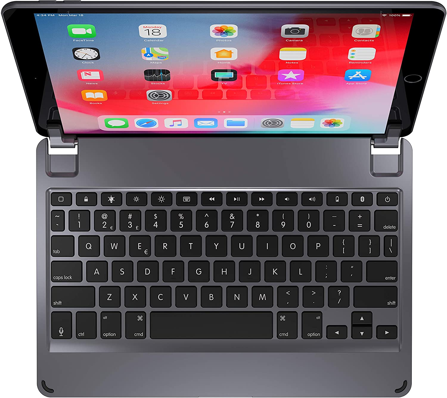 Brydge 10.5 Keyboard for iPad Air (2019) | Aluminum Bluetooth Keyboard with Backlit Keys (Space Gray)