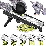 Mandolin Slicer, MILcea Vegetable Slicer Mandoline Cutter Potato Onion Fruit Chopper Slicer Julienne Adjustable Blade from Pa
