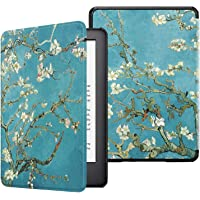 Fintie Slimshell Case for All-New Kindle (10th Generation, 2019 Release) - Premium Lightweight Protective PU Leather Cover with Auto Sleep/Wake for Amazon Kindle E-Reader (Z-Blossom)