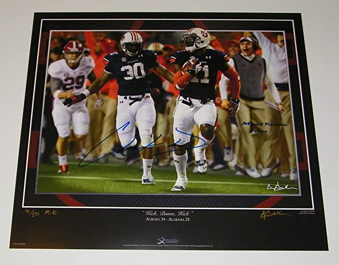 Certified Authentic Chris Davis Auburn Tigers Autographed Signed 8x10 Photo