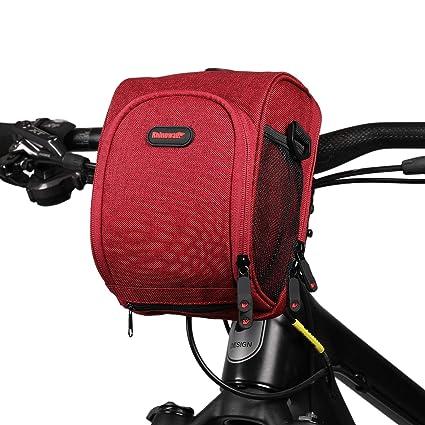 Asvert Bolsa Bici Manillar Ajustable de Bicicleta con Pantalla Transparente para Móvil o Tableta mapas y GPS,Tambien es un Bolso Bandolera,Dos en uno