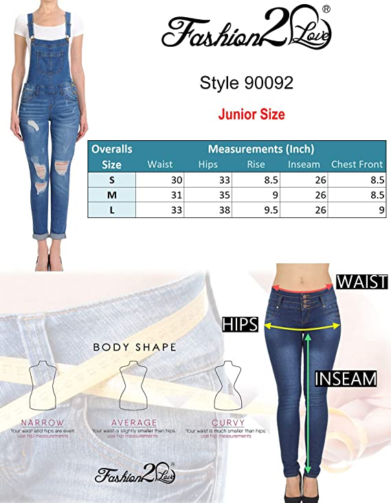 Joe Wenko Women Denim Stylish Trousers Pants Hole Jean Overalls