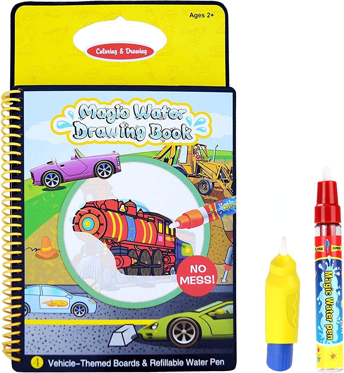 Aqua Travel Doodle Water Magic Magic Drawing Colouring Activity Multi Colour Reusable Book With Two Magic Vehicles Book Gc00602 Amazon Co Uk Baby