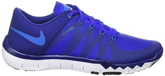 Nike FreeTrainer 5.0 V6, Chaussures Multisport Indoor Homme, Bleu/Blanc (DP Ryl Blue/PHT BL-RCR BL-Blk), 44.5