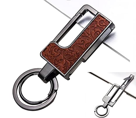 Amazon.com: Llavero de cuero/elegante y desmontable para ...