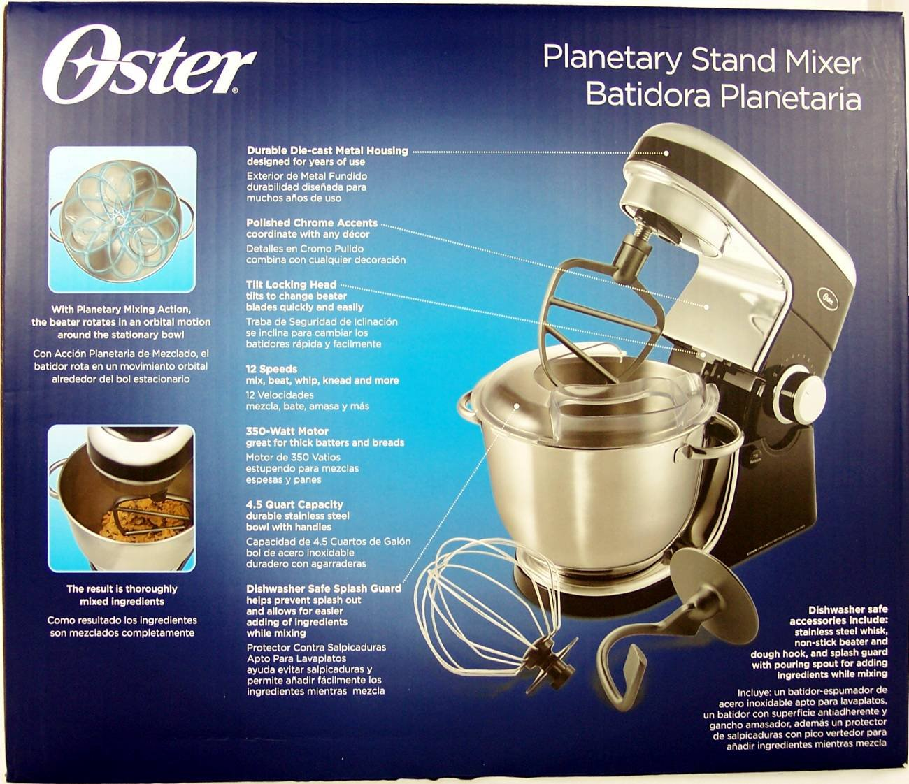 Oster Planetary Stand Mixer, Black