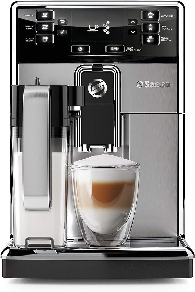 Saeco PicoBaristo Cafetera expreso s/úper autom/ática Acero Inoxidable negro y plata 1.8 litros 1850 W