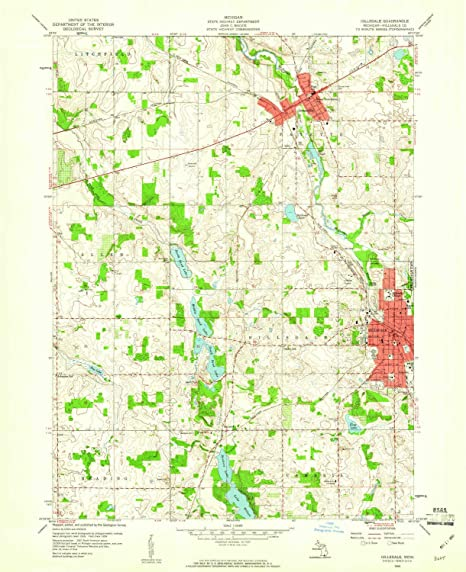 Hillsdale County Michigan Map.Hillsdale County Mi Geography Itb2c Store