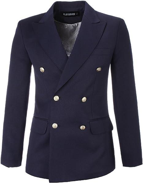 Amazon.com: FLATSEVEN, chamarra tipo blazer con cierre ...