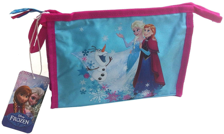 Frozen La Regina di ghiaccio bambini Beauty Bag Trousse per toletta Blu Pink