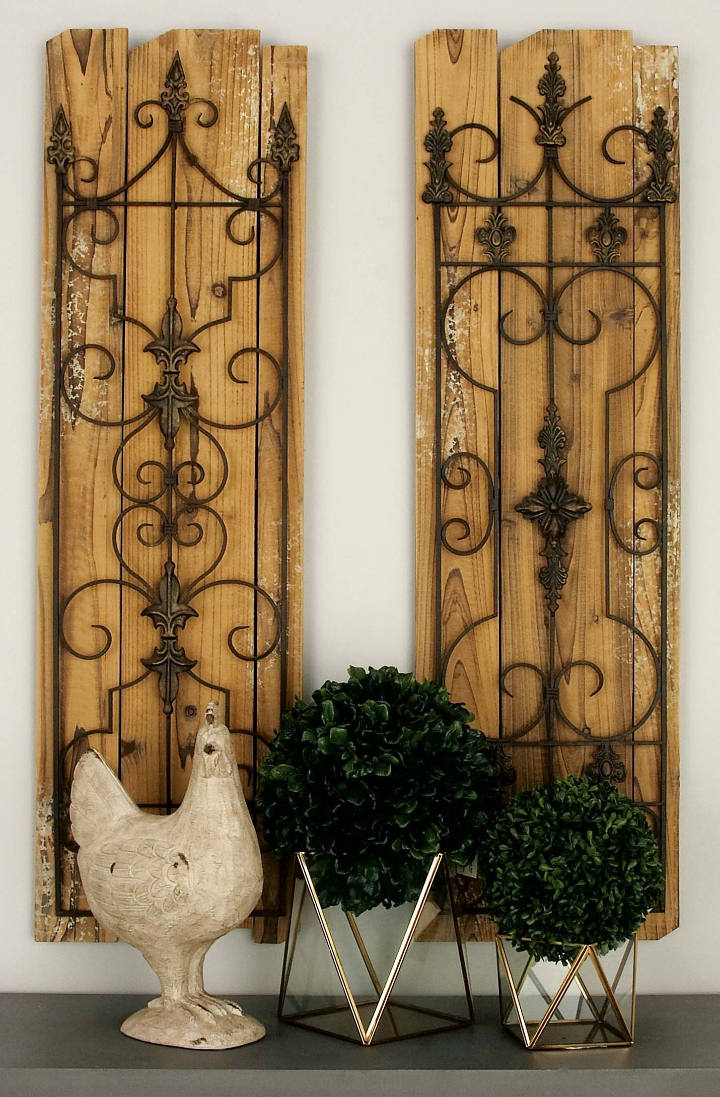 Deco 79 Enchanting Wooded Gate Wall Plaque by Deco 79