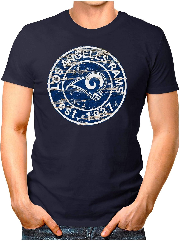 OM3® - Camiseta de Los Ángeles-Badge para hombre, camiseta de fútbol americano, talla S - 4XL: Amazon.es: Ropa y accesorios