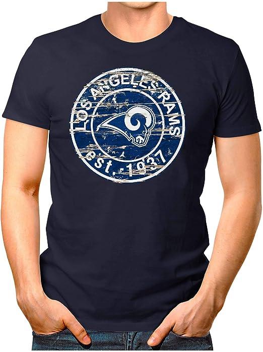 OM3® - Los Ángeles-Badge - Camiseta | Hombre | Camiseta de fútbol ...