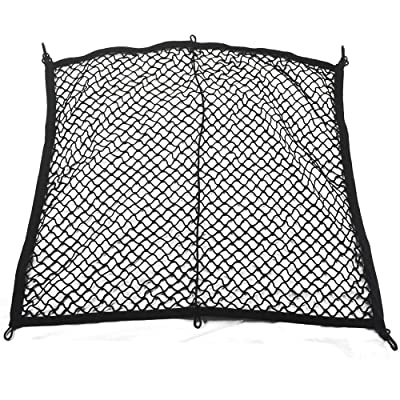 kaungka Cargo Net 4 Hooks Nylon Black Rear Trunk Elastic Mesh for 2020 Honda CRV: Automotive