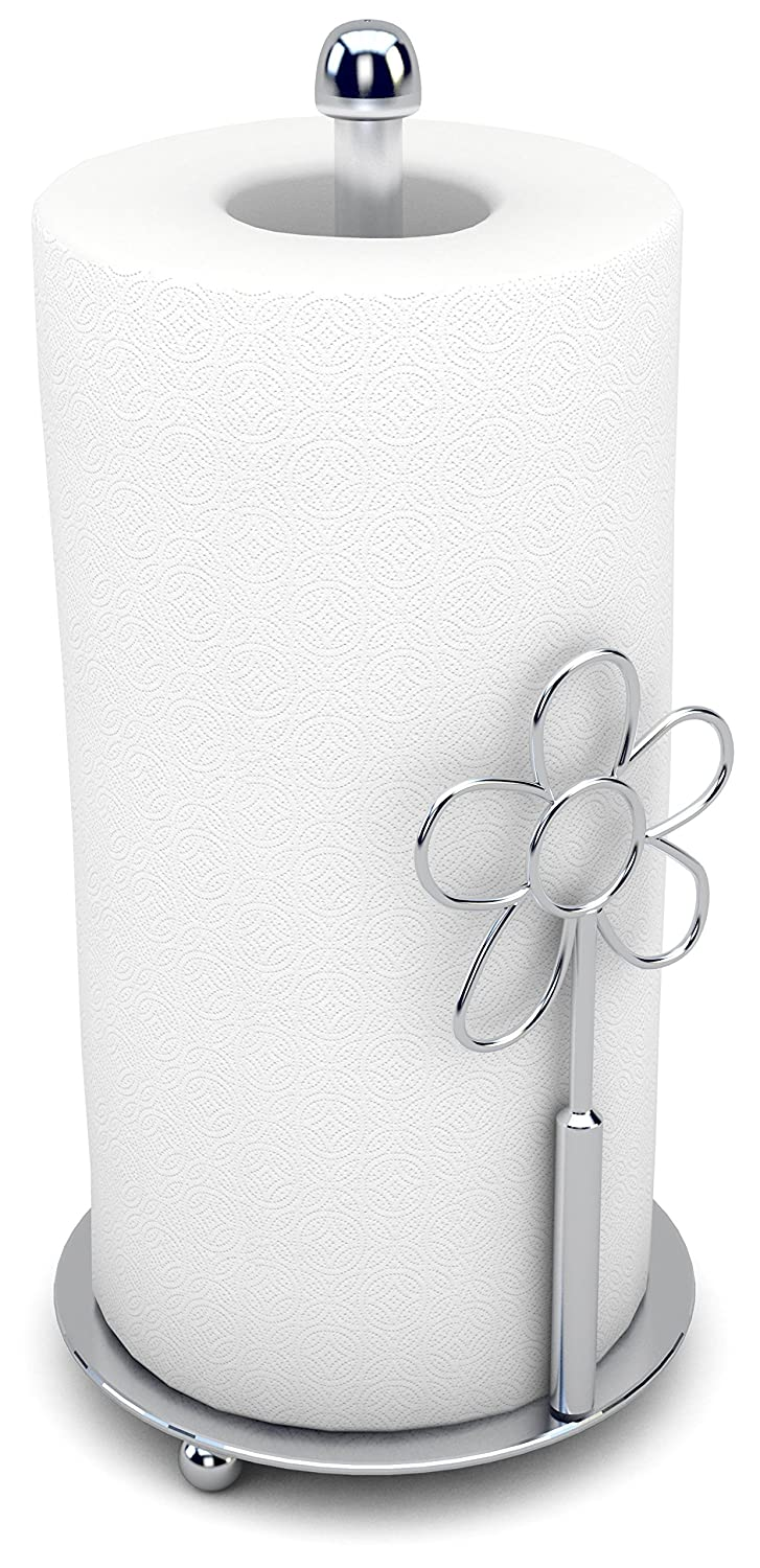 amazoncom paper towel holder  countertop decorative modern  - amazoncom paper towel holder  countertop decorative modern kitchenchrome stand up vertical upright kitchen  dining