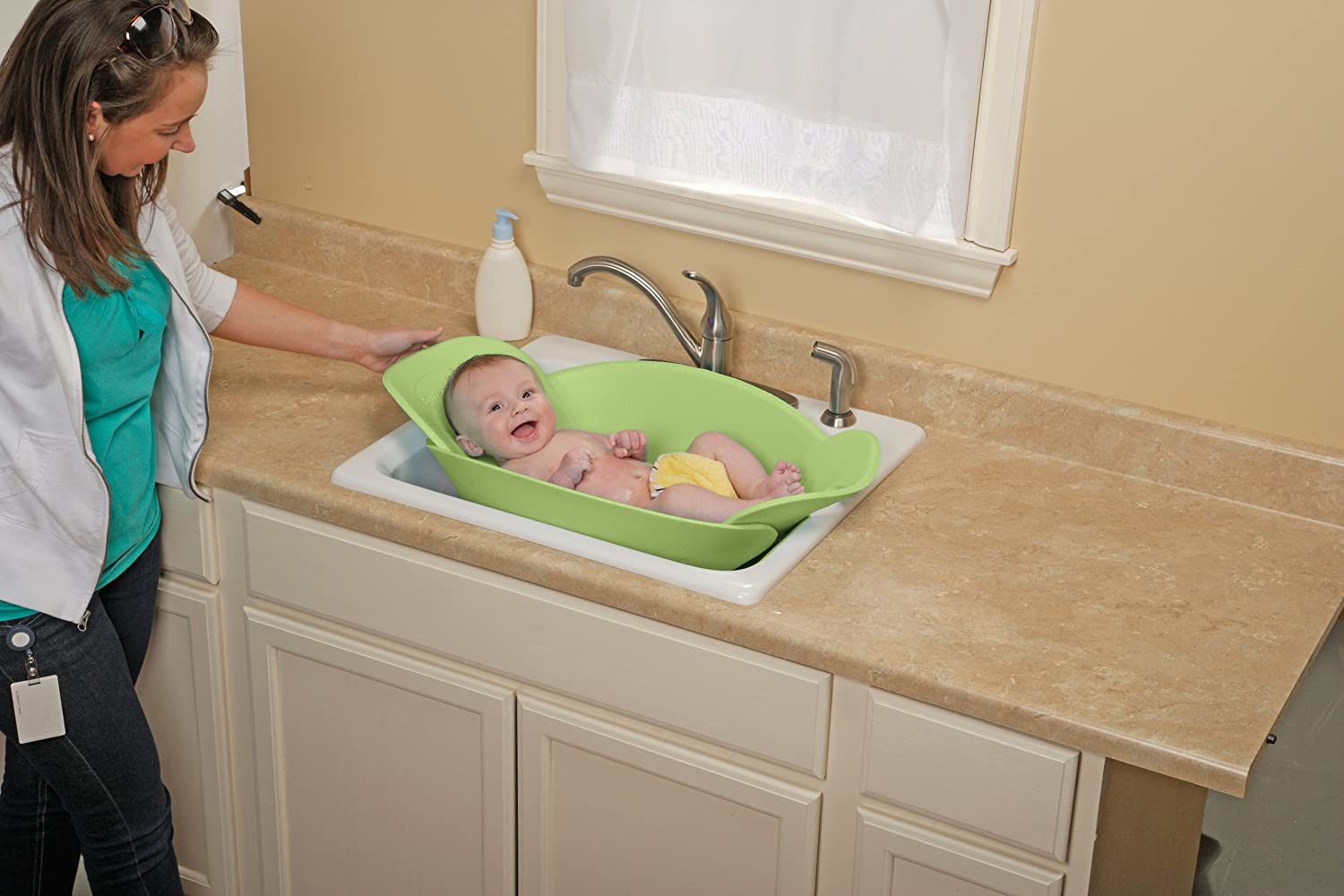 Safety 1st Sink Snuggler Baby Bather - Green: Amazon.ca: Baby