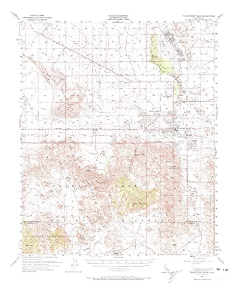 Amazon Com Yellowmaps Twentynine Palms Ca Topo Map 1 62500 Scale