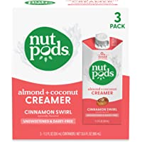 nutpods Cinnamon Swirl, (3-Pack), Unsweetened Dairy-Free Creamer, Made from Almonds and Coconuts, Whole30, Gluten Free…