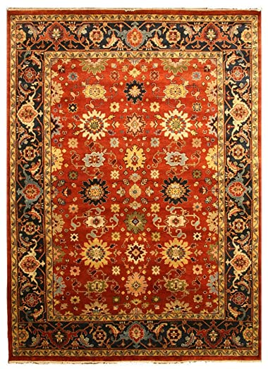 EORC SHT19RT Hand Knotted Wool Super Mahal Rug, 3 x 5 , Rust