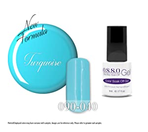 O.S.S.O Gel Polish Color One-Step Soak-off LED UV Cured No Base or Top Coat Need (Turquoise)