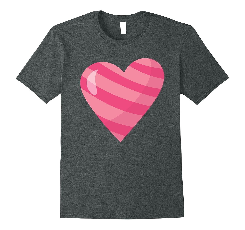 Cute Unique & Modern Pop Art Pink Stripe Heart Gift T-Shirt-FL