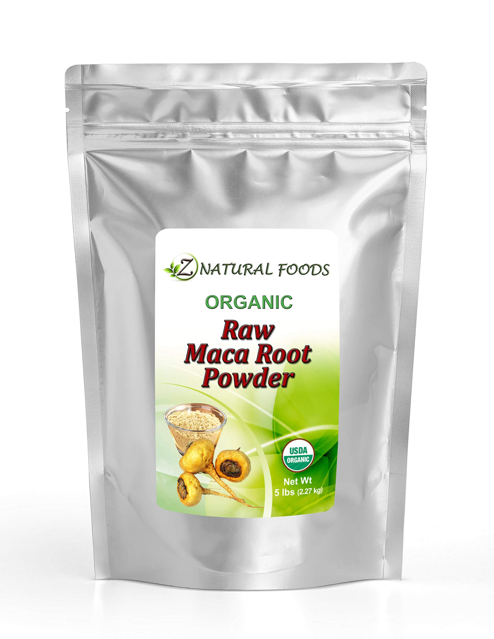 Organic Maca Root Powder - Bulk 5 lb Size - Adaptogen Superfood Supplement - Red, Yellow & Black Blend Grown In Peru - Mix In Drinks, Juice, Smoothies, & Recipes - Raw, Vegan, Non GMO, Gluten Free