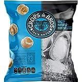Crops & Bros Botana Horneada Hecha de Arroz, Quinoa, Lenteja y Mijo, Sabor Natural con Sal, Natural Con Sal Del Desierto De A