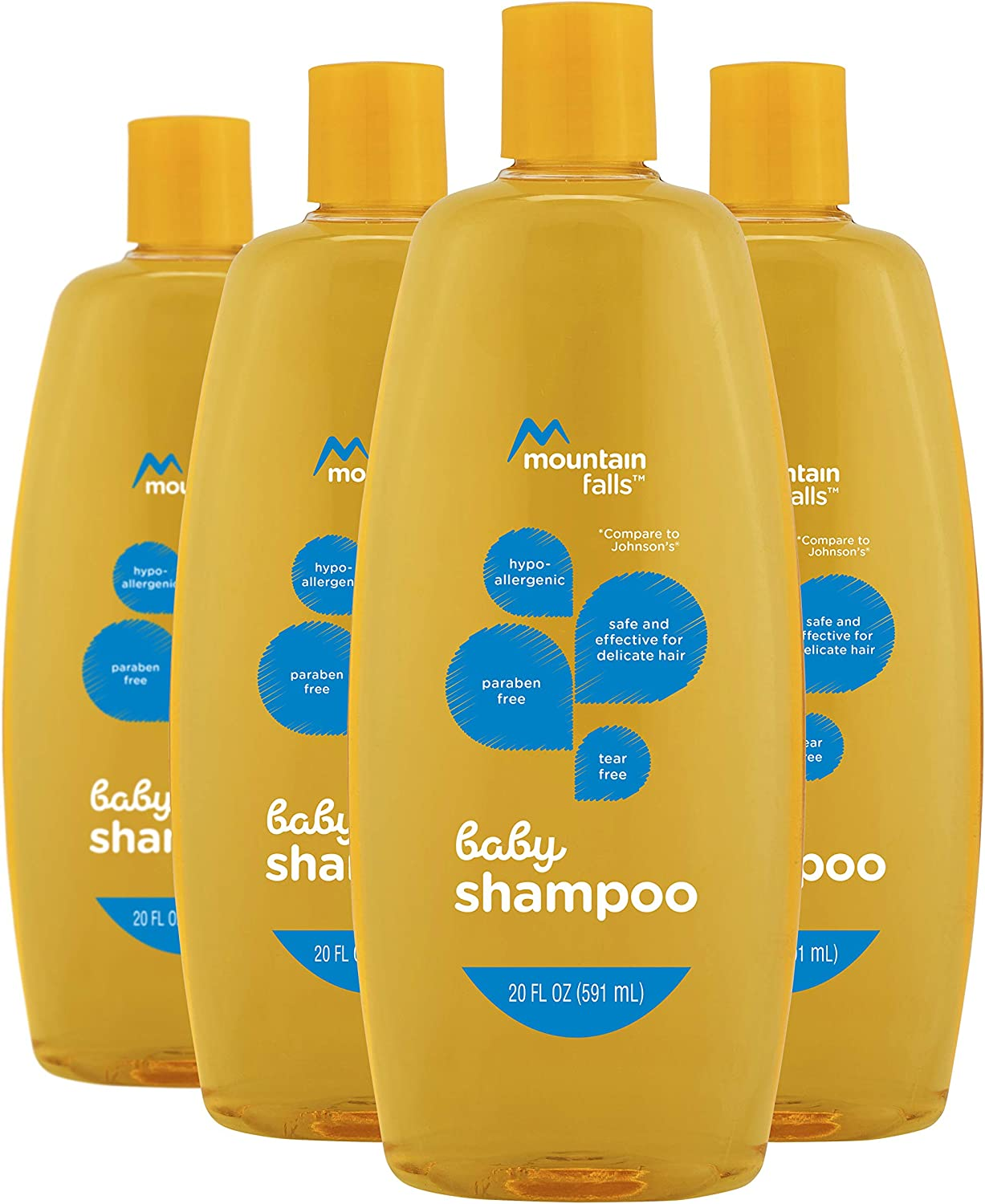 Mountain Falls Hypoallergenic Tear-Free Baby Shampoo, 20 Fluid Ounce (Pack of 4)
