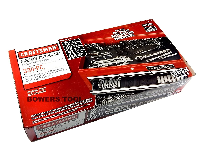 Craftsman 334 Pc 309 + Mechanics Tool Set 47334 Ratcheting ...