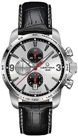 Certina - Reloj de Automático para Hombre, correa de Cuero color Negro: Amazon.es: Relojes